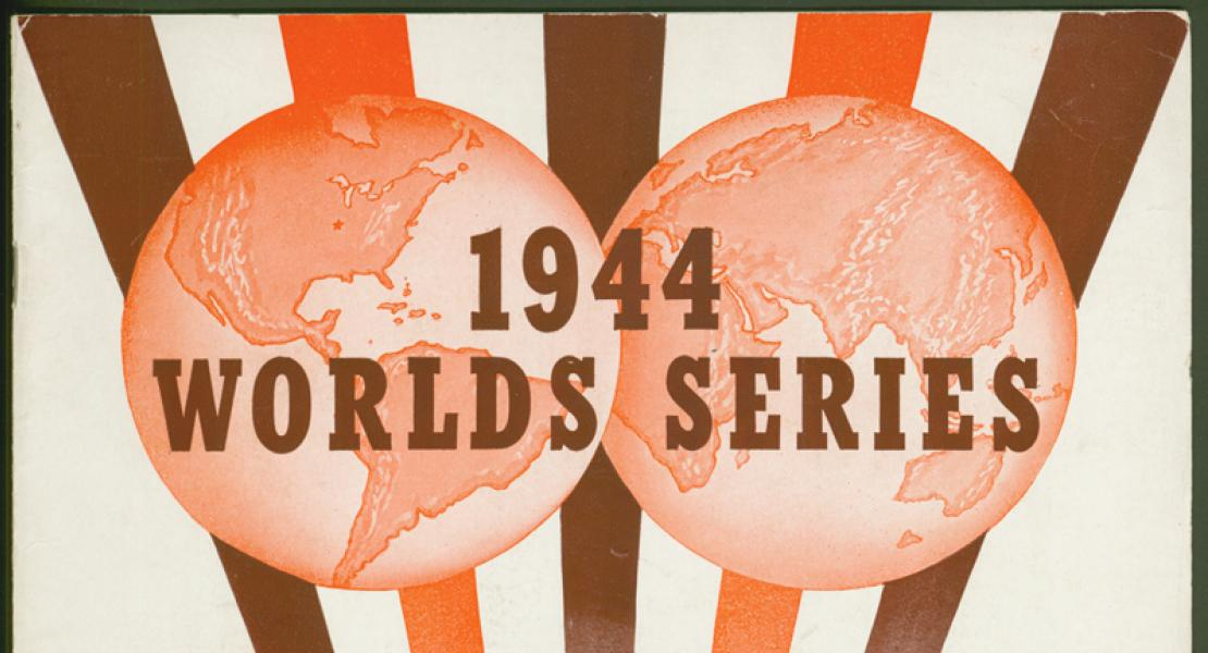 souvenir program from the 1944 World Series