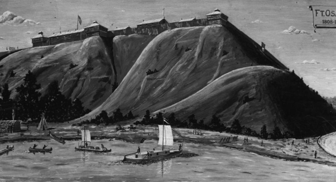painting of Fort Osage
