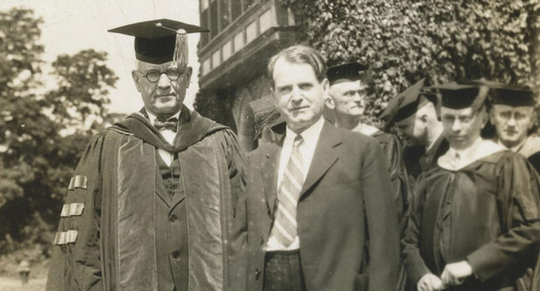 Perl Decker at Park College in 1927