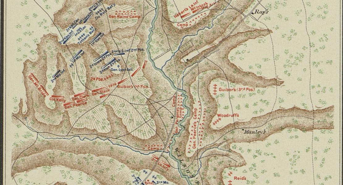 Map of the battlefied