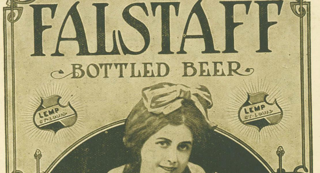 An ad for Falstaff Beer from 1918