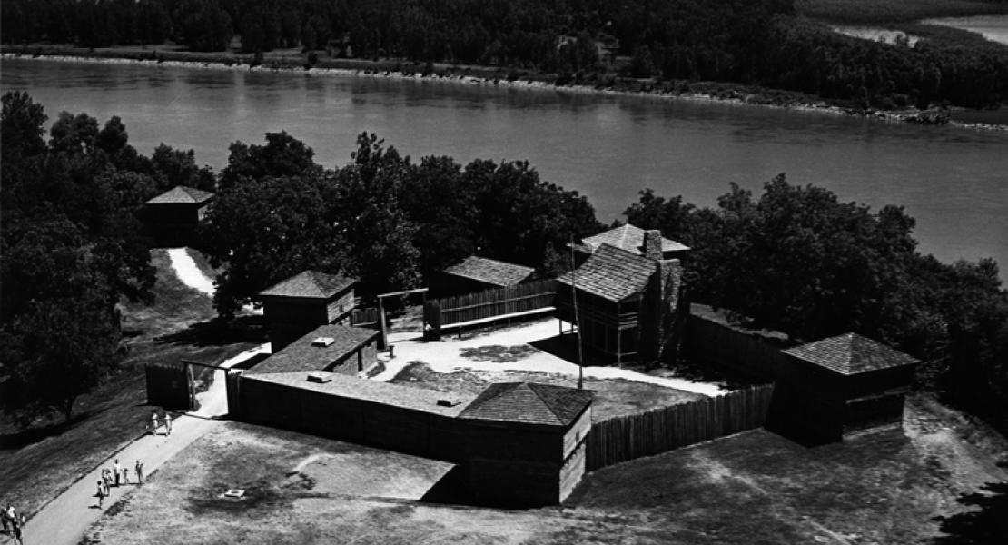 Aerial of Fort Osage