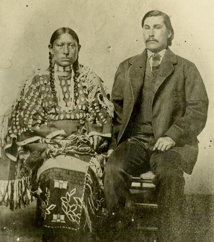 Native woman with husband