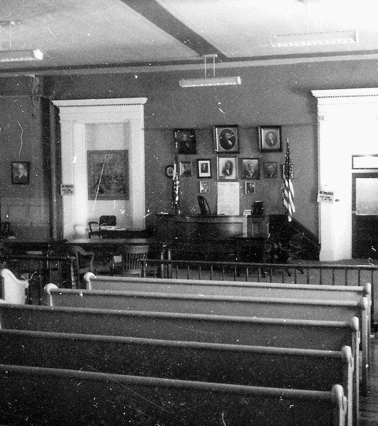 Rall County Courthouse Courtroom